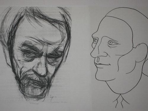 Busch-Porträts (Zeichnungen von Bert Heller und Fritz Melchior)