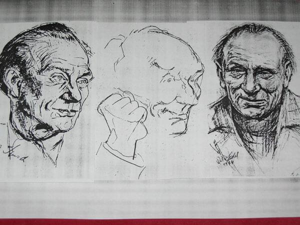 Drei Ernst Busch-Porträts