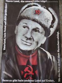 Ernst Busch-Posterbeilage der Doppel-LP 'Roter Oktober', 1989