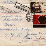 Briefumschlag adressiert an Ernst Busch