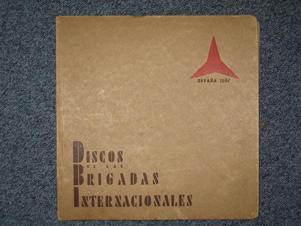 Canciones-Mappe mit drei Schellacks, Barcelona 1937