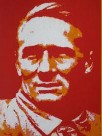 Ernst Busch à la Warhol (Buch-Cover, 2003)