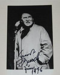 Autogrammkarte Ernst Busch (FDGB-Auftritt)