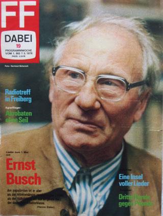 Ernst Busch auf Fernsehzeitschrift 1978
