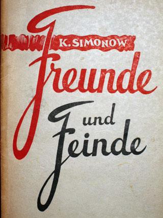 Simonow-Buch von 1950 mit Schutzumschlag