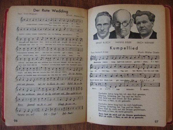 Doppelseite 96/97 aus den ''Canciones''