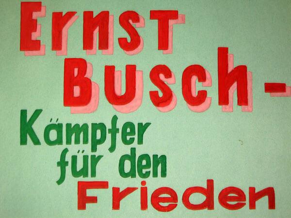 Schüler-Album für Ernst Busch (Seite 1)