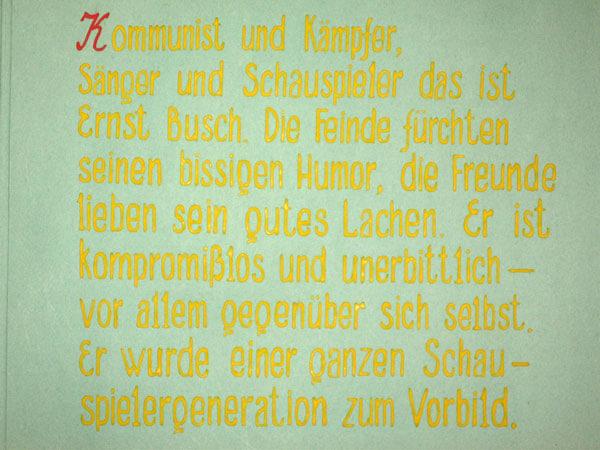 Schüler-Album für Ernst Busch (Seite 2)