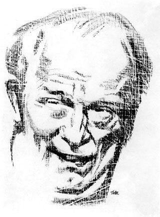 Porträt Ernst Busch von Thomas Marquard